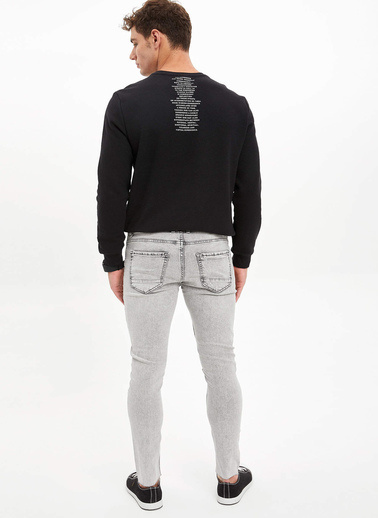DeFacto Martin Super Skinny Fit Jean Pantolon Gri